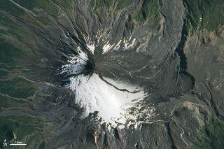villarrica volcano after eruption