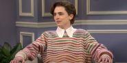 Timothee Chalamet's Harry Styles Impression On SNL Set Twitter's Heart Aflutter