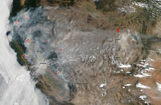 July 29, 2018 California wildfire smoke
