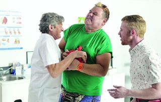 Benidorm is back! Nigel Havers guest stars as a dentist trying to extract something from Kenneth