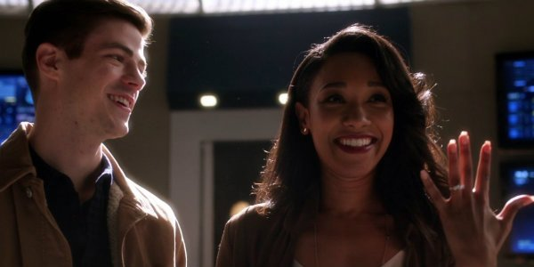 Barry Allen Iris West engaged the flash