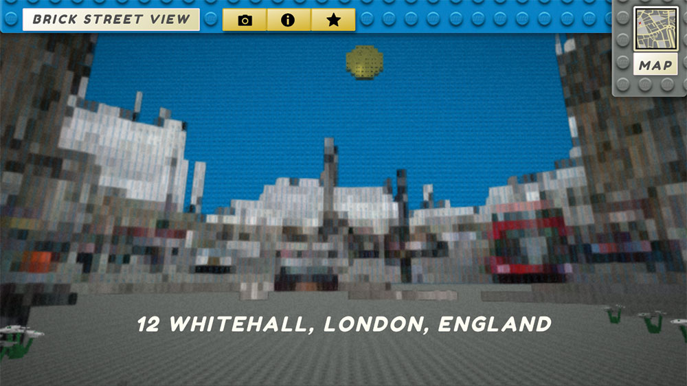 Streetview of Whitehall made out of LEGO bricks