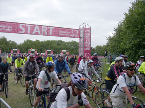 Start line, Clapham, London to Brighton 2010
