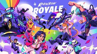 Rainbow Royale splash art