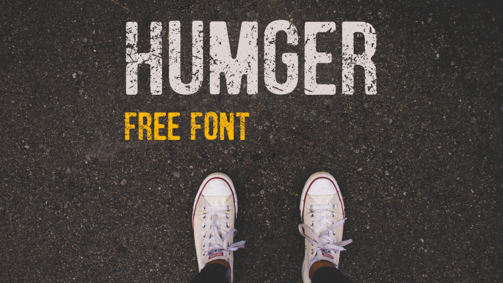 Free graffiti fonts: Humger