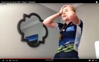 Lauren Stephens won stage 2 of the Virtual Tour de France