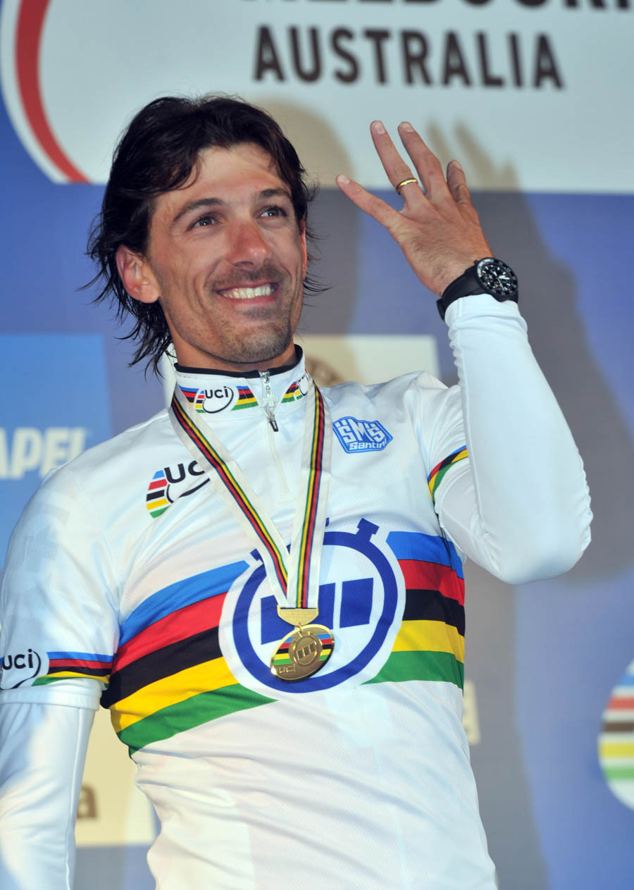 Fabian Cancellara wins, World Championships 2010, men