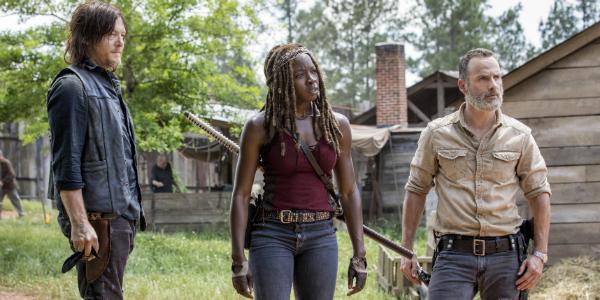 The Walking Dead Daryl Norman Reedus Michonne Danai Girira Rick Andrew Lincoln AMC