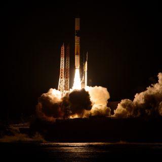 H-IIA Rocket Launches with GPM Observatory Onboard