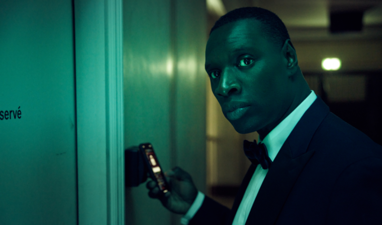 Lupin star Omar Sy dressed in a black tuxedo