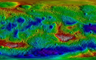 Topography Map Asteroid Vesta