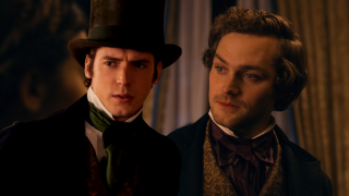 Finn Jones and Pico Alexander in Dickinson Season 2.
