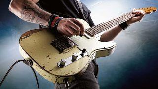 Rock guitar playing