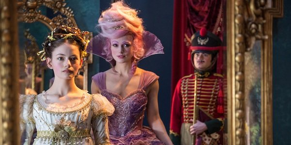 The Nutcracker and The Four Realms Mackenzie Foy and Keira Knightley assess their looks in the mirro
