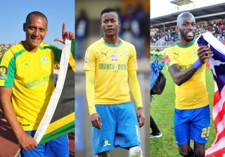 Wayne Arendse, Katlego Otladisa and Anthony Laffor