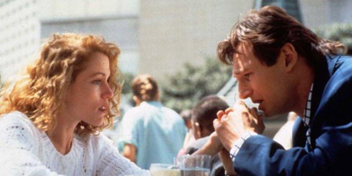 Frances McDormand and Liam Neeson in Darkman