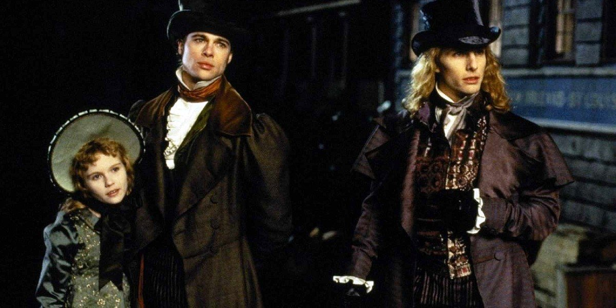 Brad Pitt, Tom Cruise, and Kirsten Dunst in Interview With A Vampire