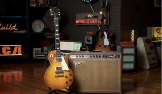 Joe Bonamassa's 'Holy Grail' '59 'Burst Les Paul (left) and 1963 Fender Vibroverb amp