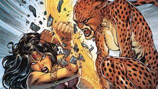 image of Wonder Woman fighting Cheetah