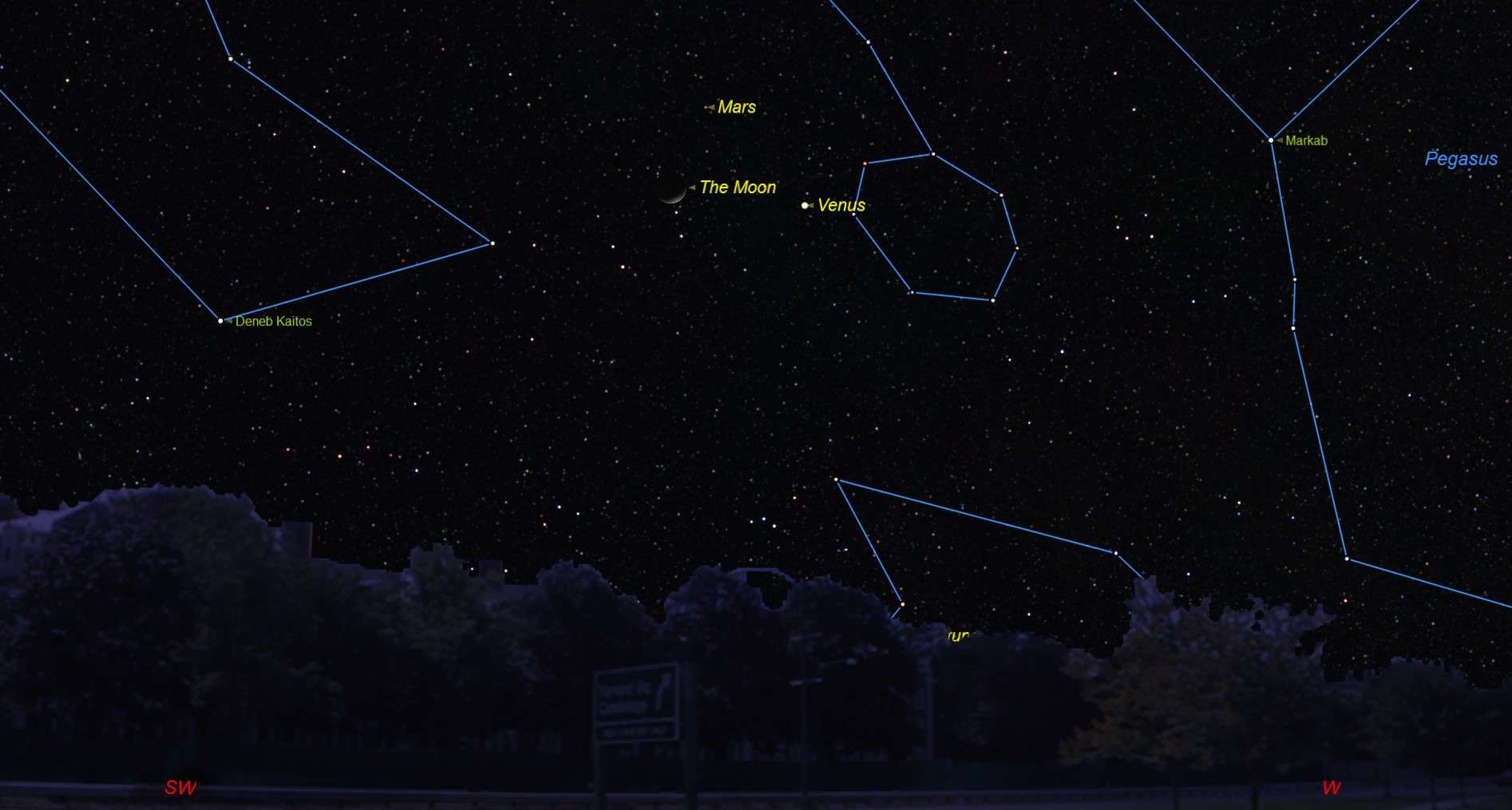 See Venus, Mars and Moon Crescent Form Cosmic Triangle Tonight | Space