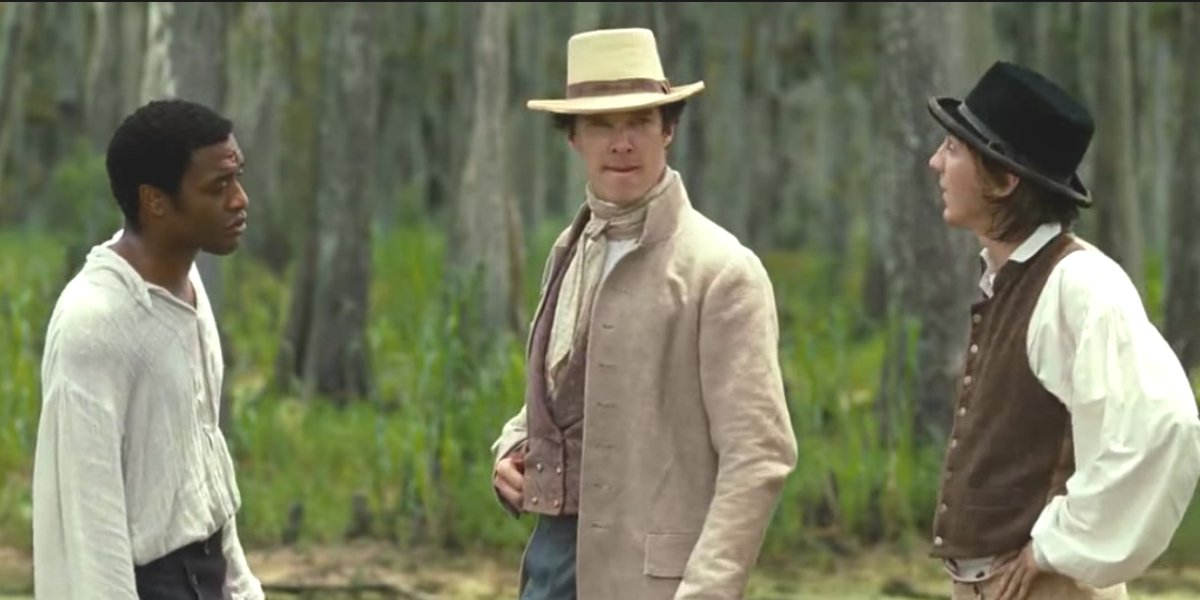 Benedict Cumberbatch in 12 Years A Slave