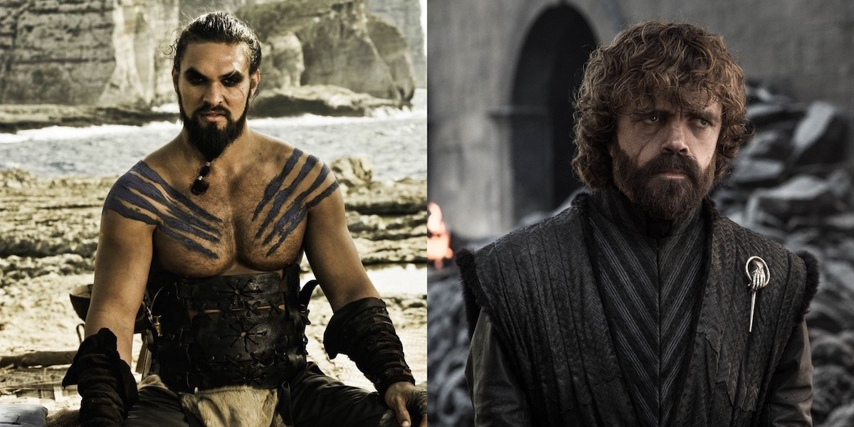 Jason Momoa and Peter Dinklage in Game of Thrones
