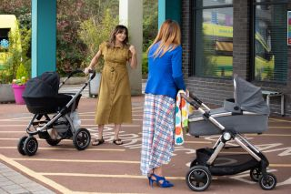 New mum Becky talks to Diane Hutchinson in Hollyoaks