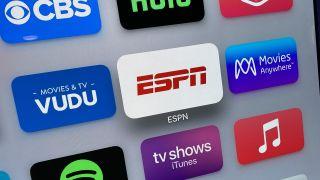 The ESPN app on Apple TV