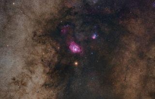Mars and Two Nebulas 2