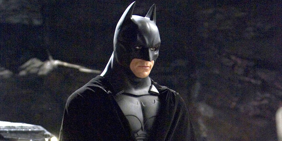 Christian Bale as Batman in Batman Begins
