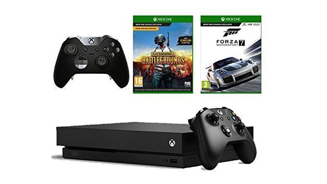 Xbox One X + Elite Controller + PUBG + Forza Motorsport 7