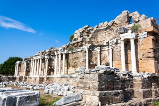 An ancient theater (though not the one in the study) in the city of Hierapolis, located in Pamukkale, Turkey.