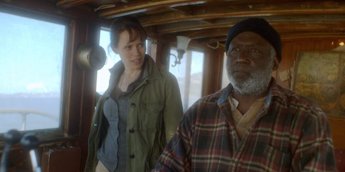 Emily Swallow and Richard Roundtree in Haunting of Mary Celeste