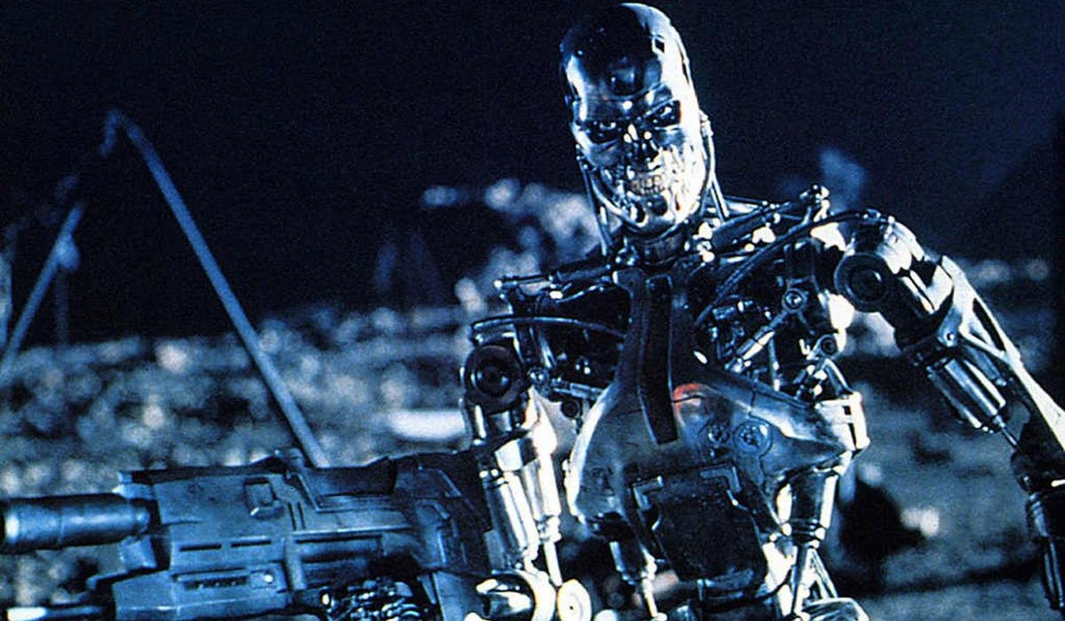 Terminator 2: Judgement Day a Terminator amidst the wasteland of LA
