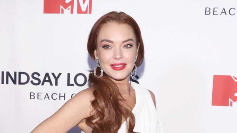 """Lindsay Lohan attends MTV's """"Lindsay Lohan's Beach Club"""" Premiere Party at Moxy Times Square"""