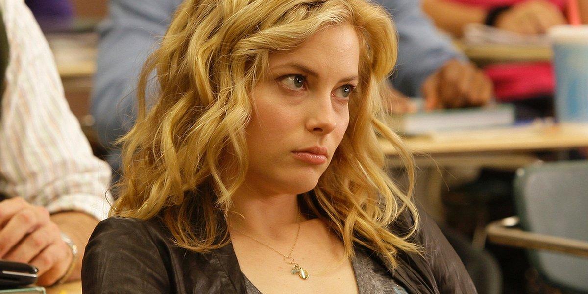 Britta Perry in class in Community.