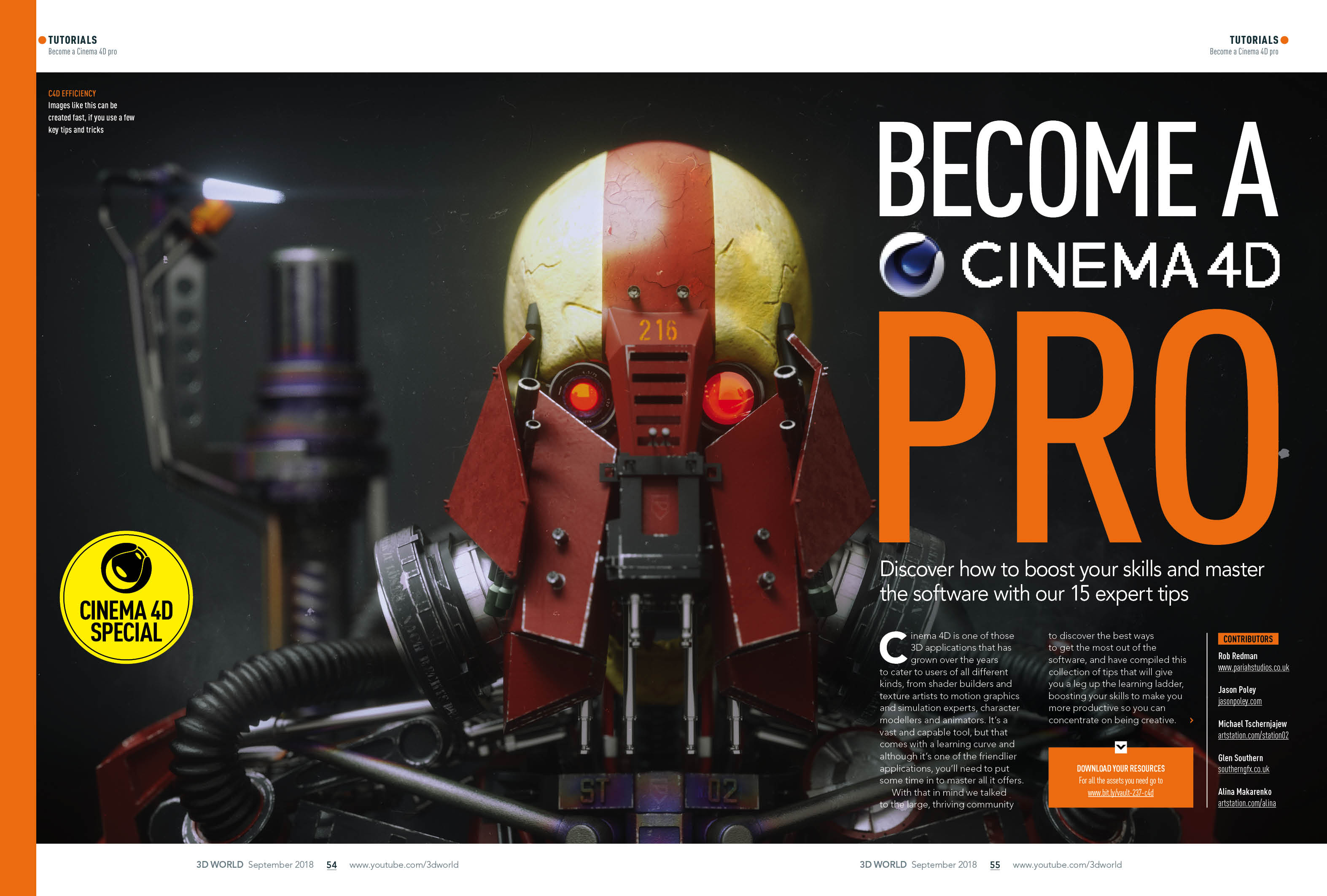 Become a Cinema 4D pro with issue 237 of 3D World | Creative