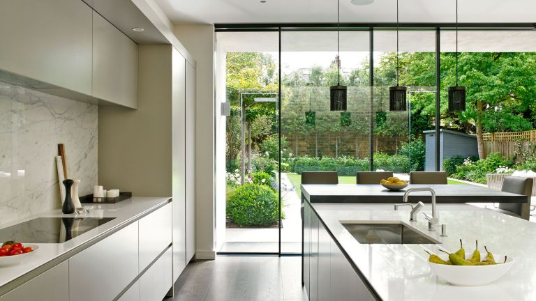 kitchen with contemporary feel and glazing by brayer design