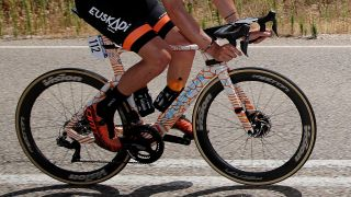 Close up of the new Orbea aero bike spotted at la Vuelta