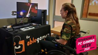 A Gamer With Disabilities Plays A Video Game With Help From The AbleGamers Charity