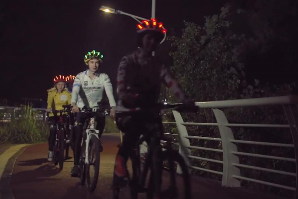 Bling helmet lights