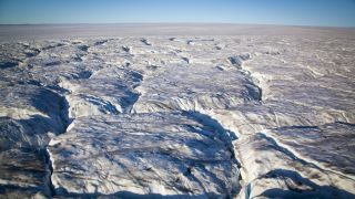 Ice seems to go on forever at Humboldt Glacier in northwest Greenland.