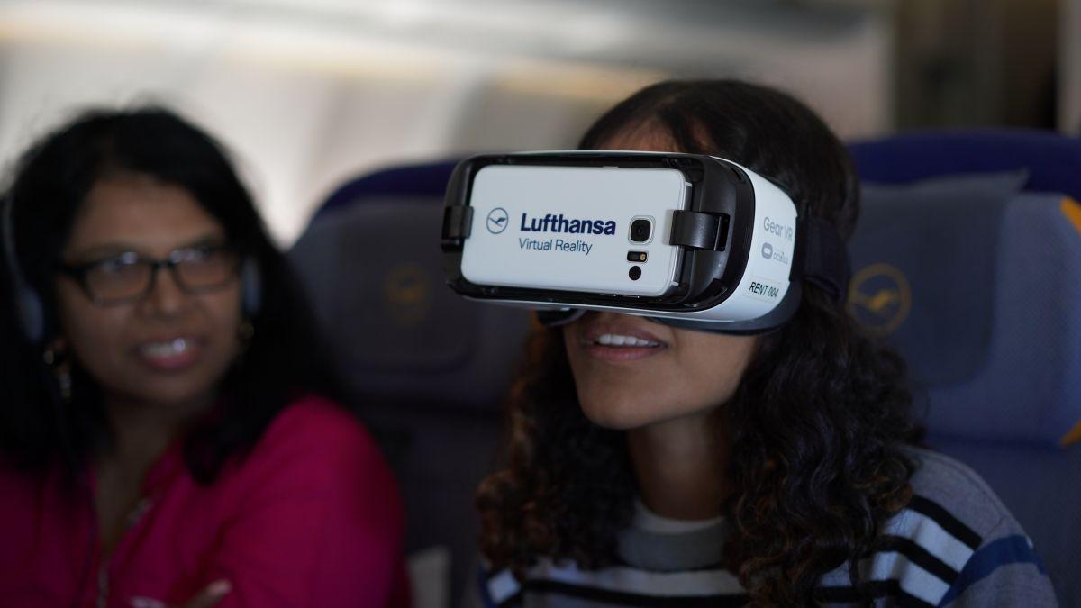 Lufthansa debuts prototype in-flight VR experience