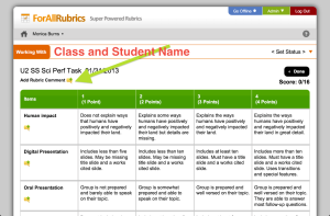 Class Tech Tips: Score Rubrics on Your iPad