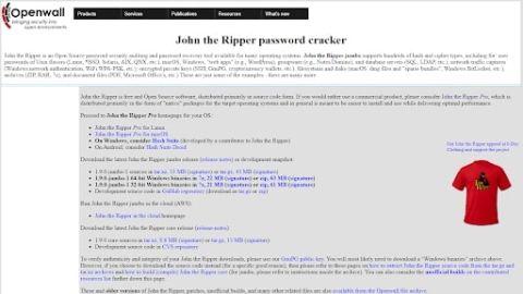 John the Ripper password cracker - John the Ripper's homepage