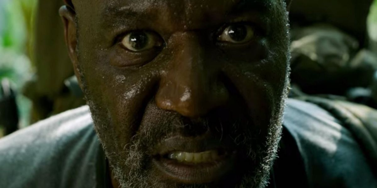 Delroy Lindo in Da 5 Bloods staring at the camera.