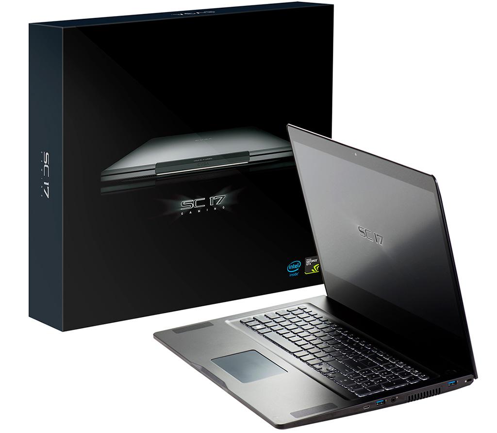 EVGA SC17 gaming laptop wields a 4K display and GeForce GTX 1070 ...