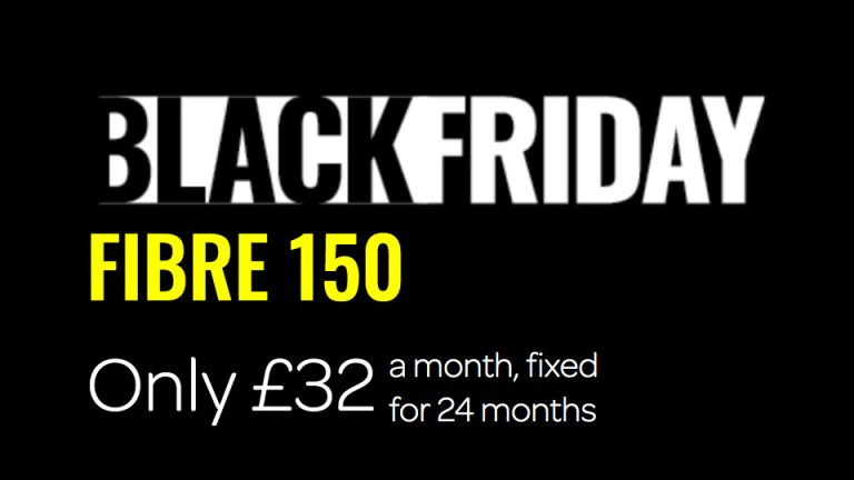 TalkTalk Black Friday: banner with Fibre 150 for £32 per month