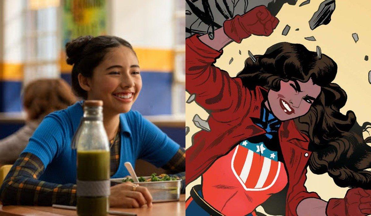 Xochitl Gomez in Babysitter's Club and America Chavez in Marvel comics