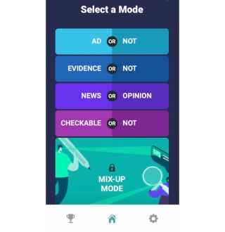 Informable screenshot showing four modes of play.